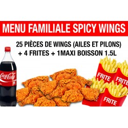 MENU FAMILIALE SPICY WINGS