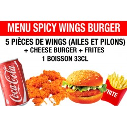 MENU SPICY WINGS BURGER