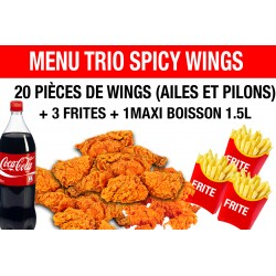 MENU TRIO SPICY WINGS