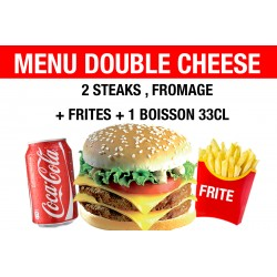 MENU DOUBLE CHEESE